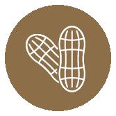 Producto con cacahuetes